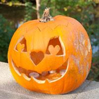 Græskar hoved til halloween