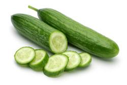 Lækre agurker klar til spisning